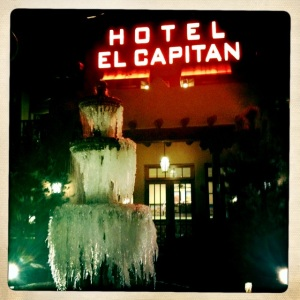 This is the hotel we stayed in on our way back from Lordsburg.  This is NOT the hotel with the bed bugs.  I'm sure the bed bugs were in the Days Inn in Van Horn.  The El Capitan was very nice and we actually secured the last room in the whole town thanks to the ice storm passing over the area.