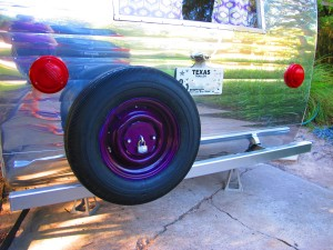 spare tire_blurred license